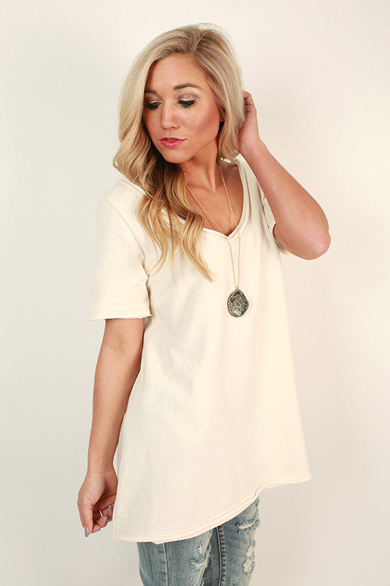 Cuddles Cove Terry Top in Cream