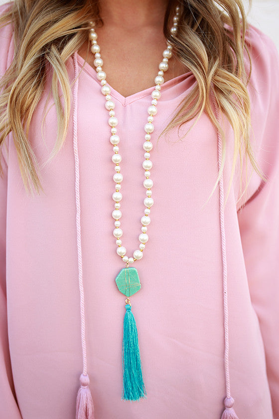 Jewel of the Sea Necklace in Ivory