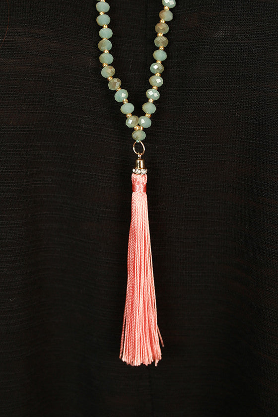 World Travels Necklace in Peach Echo