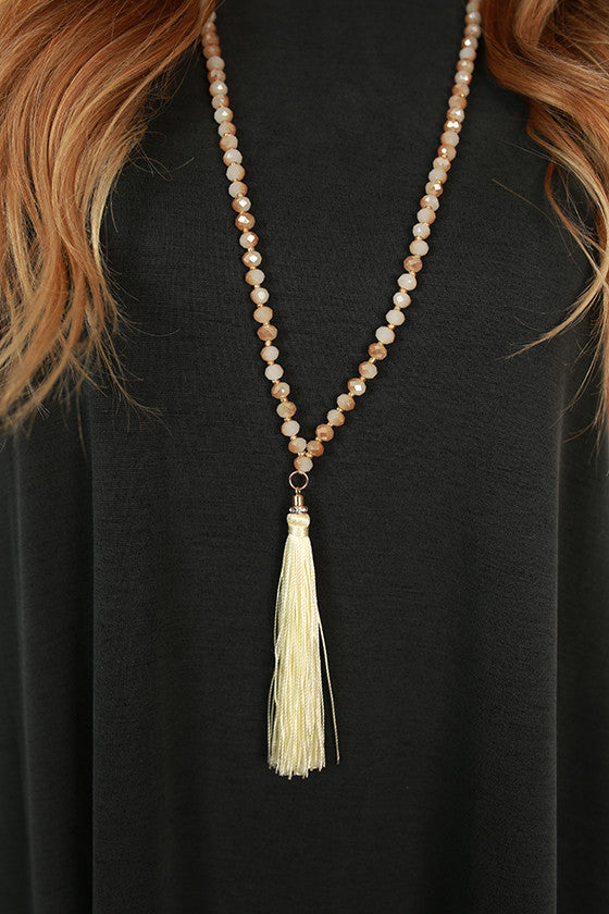 World Travels Necklace in Cream
