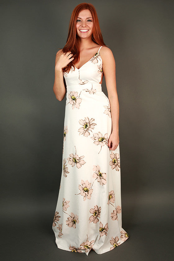Crazy Beautiful Floral Maxi Dress