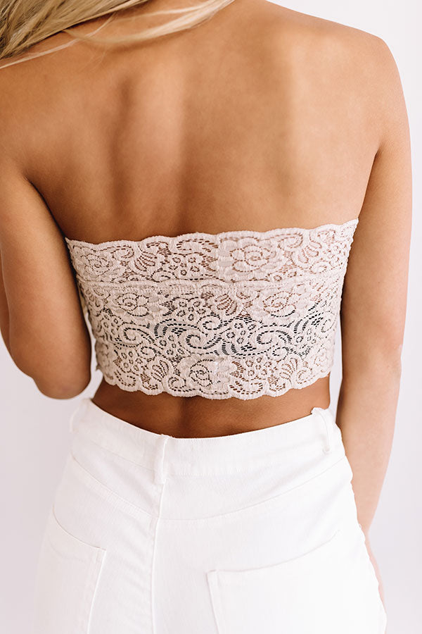 Scallop Lace Bandeau in Birch