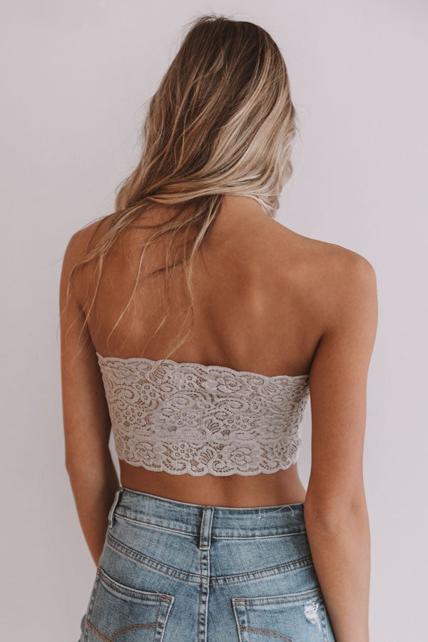 Scallop Lace Bandeau in Taupe