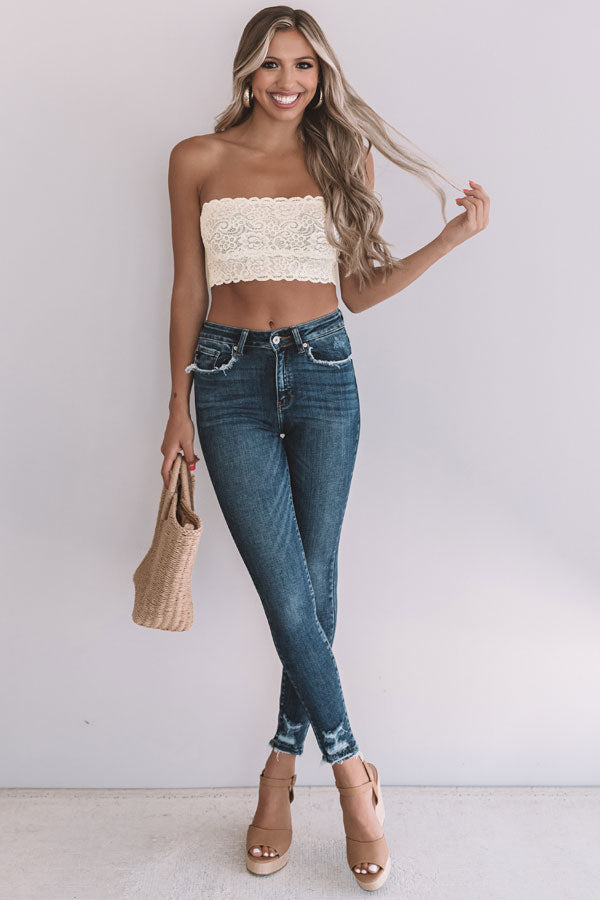 Scallop Lace Bandeau in Cream