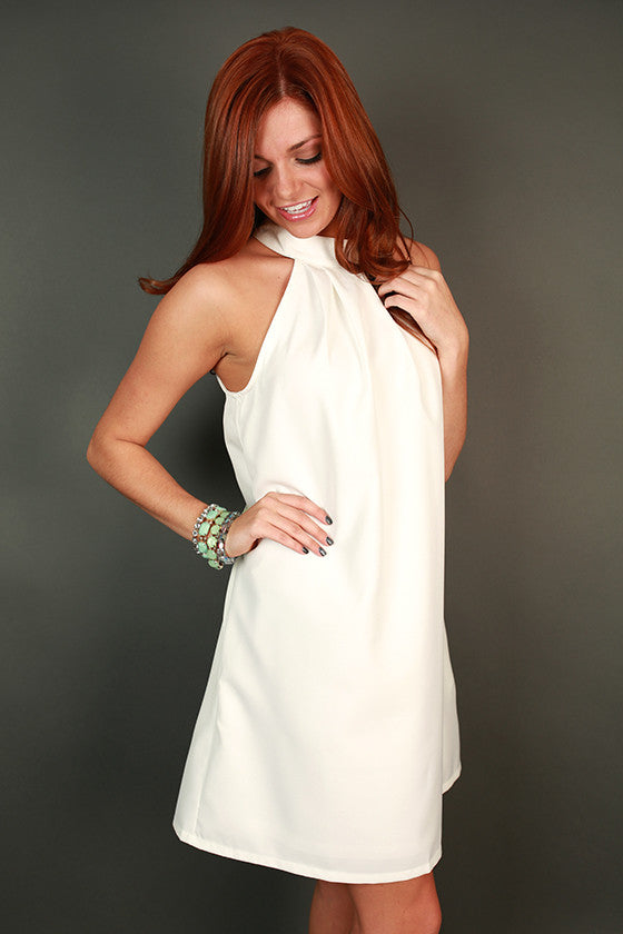 Chic For Life Shift Dress in White