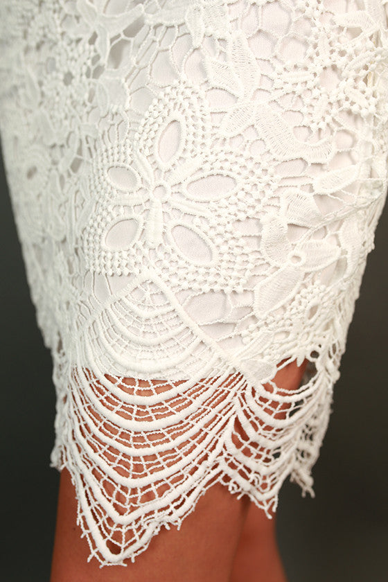 Bubbly On Repeat Crochet Dress