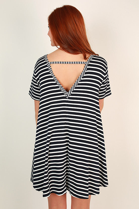 After School Stripe Shift Dress