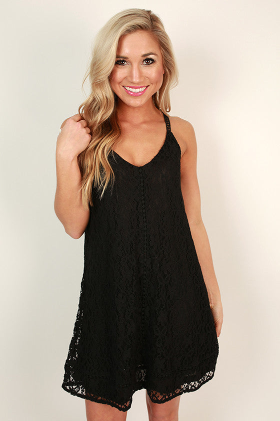 Wine & Lace Shift Dress