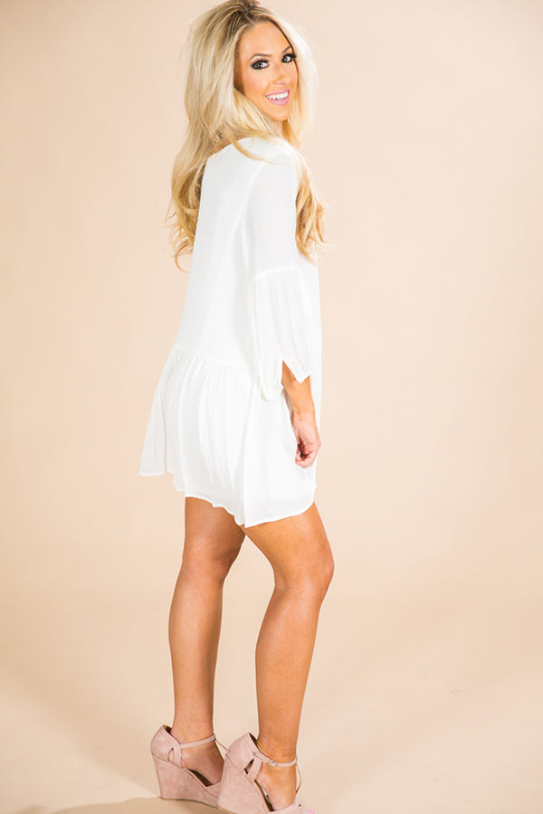 Sunshine Picnic Shift Dress in White