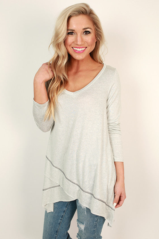 Porch Party Shift Tunic in Grey