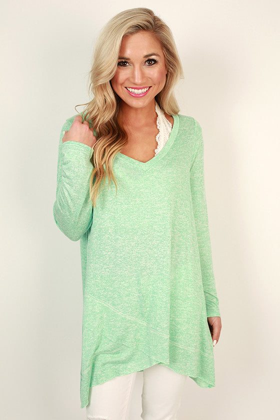 Porch Party Shift Tunic in Mint