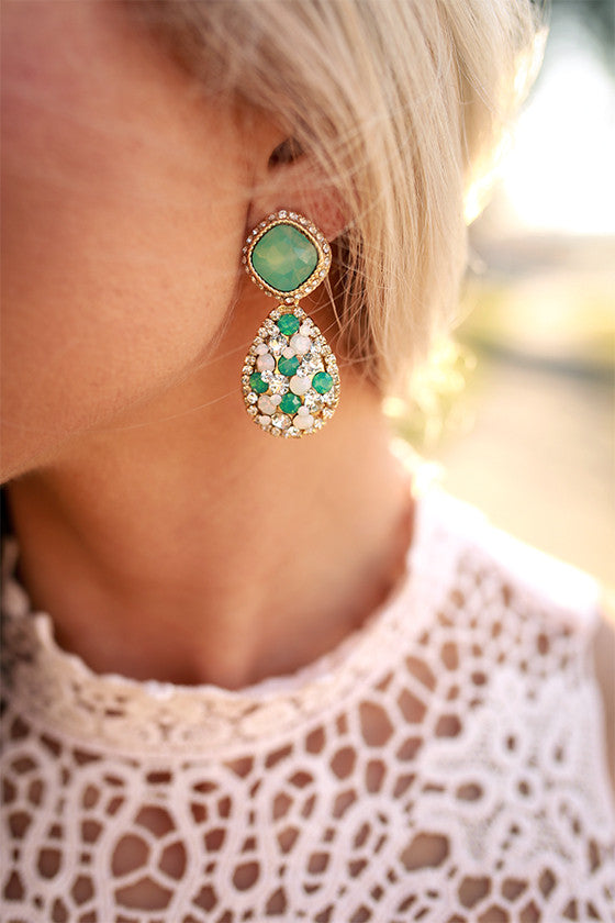 Fancy Shindig Earrings in Emerald