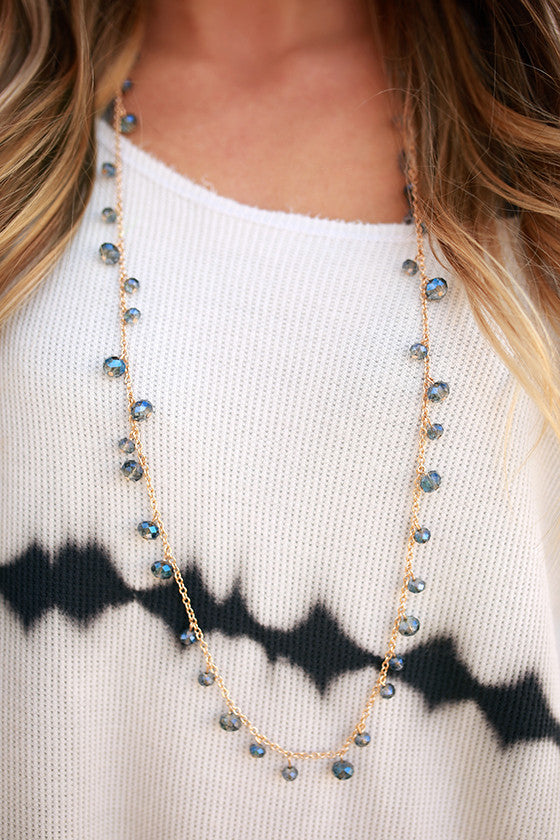 Sweet on You Necklace in Indigo