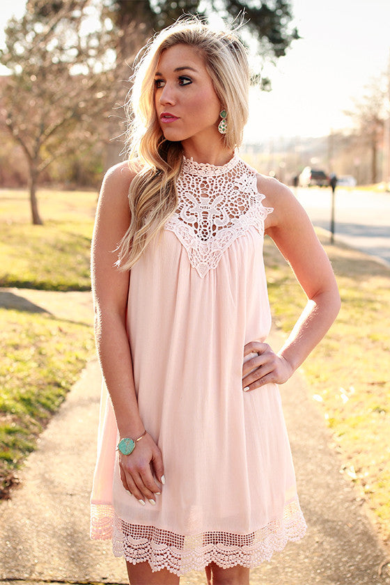 Blushing & Brunching Shift Dress
