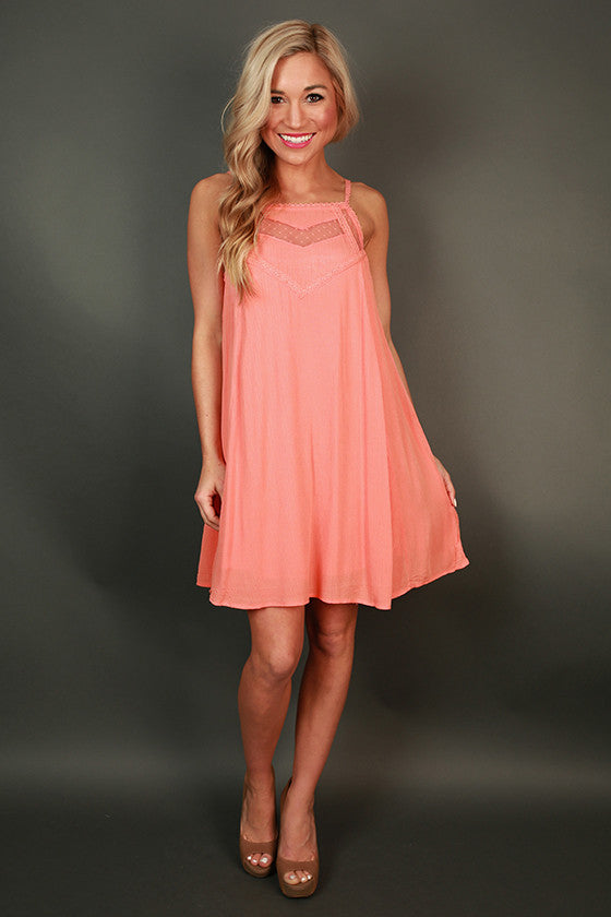 Sunday Sweetness Shift Dress in Nectarine