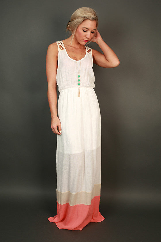 Salty Beach Kisses Color Block Maxi