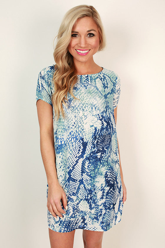 Kisses By The Sea Shift Dress