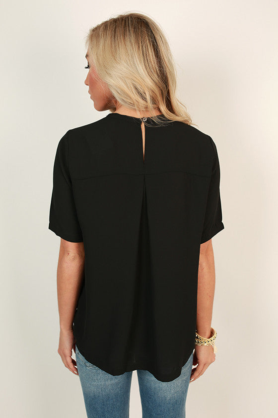 After The Runway Shift Top in Black