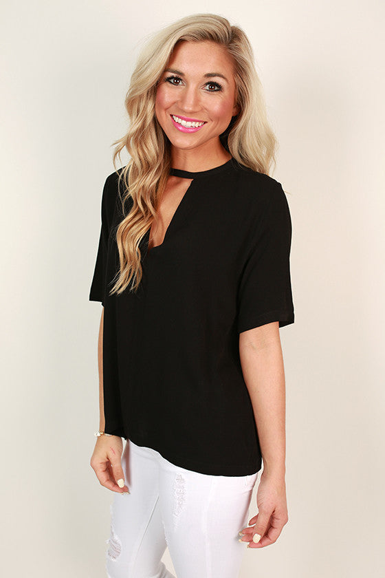 After The Catwalk Shift Top in Black