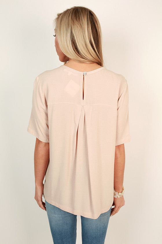 After The Catwalk Shift Top in Birch