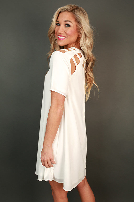 Mimosa Chic Shift Dress in Ivory