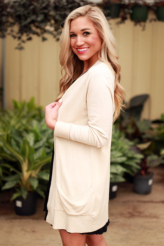 Brunching Babes Cardigan in Ivory