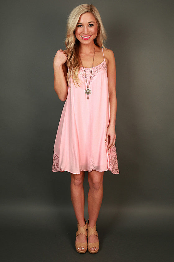 French Martini Shift Dress in Pink