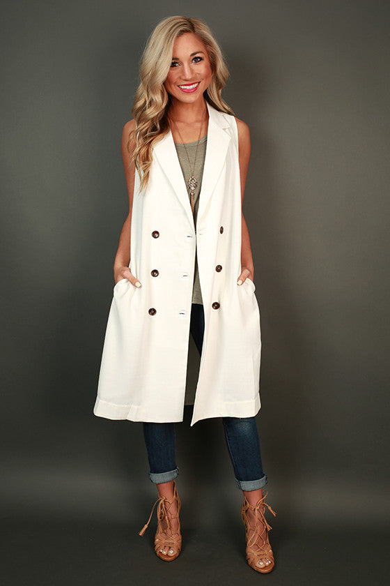 Crazy Chic Sleeveless Trench