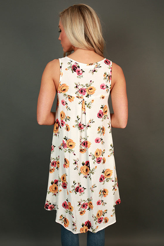 Floral Flare Keyhole Tank