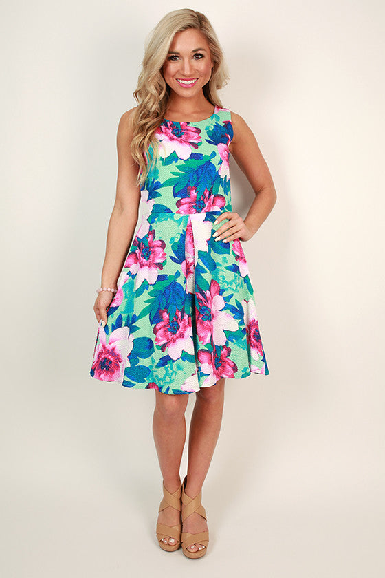 Flowers & Sunshine Fit & Flare Dress
