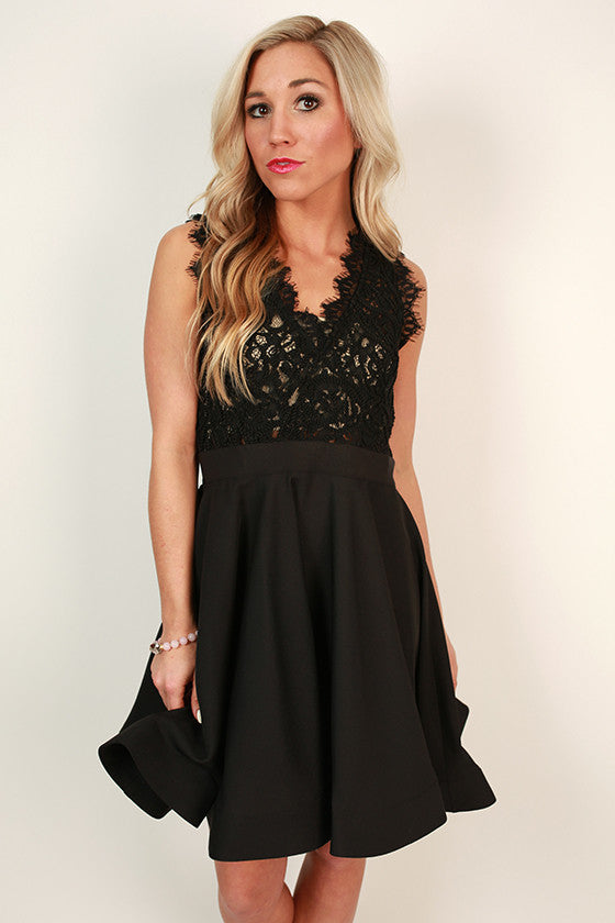Love Me Like You Do V-Neck Dress in Black