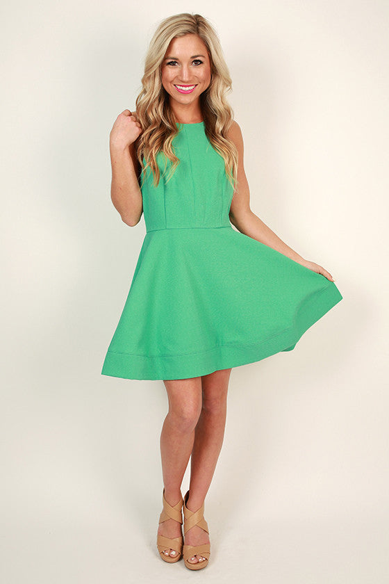 Heartbreaker Fit & Flare Dress in Emerald