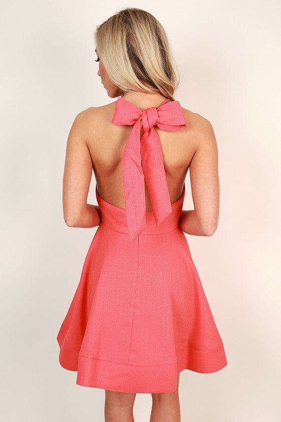 Heartbreaker Fit & Flare Dress in Coral