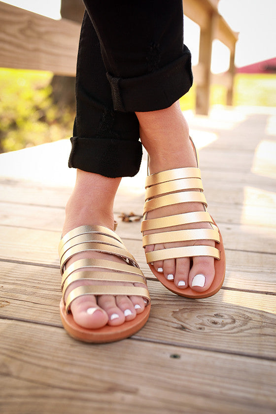 Teacup Sandal in Gold
