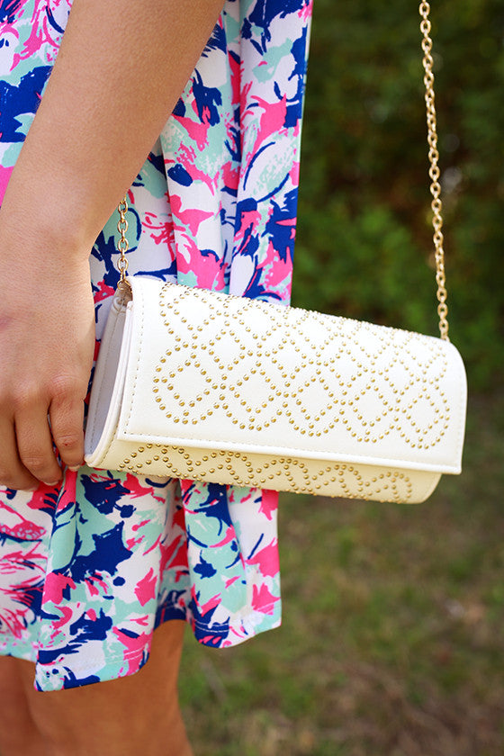 Wining & Dining Clutch in White