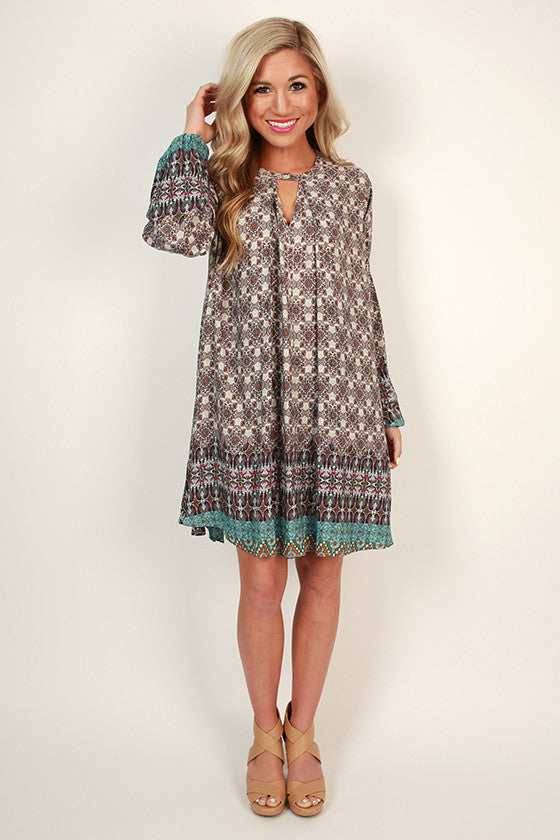 Southern Sangria Shift Dress