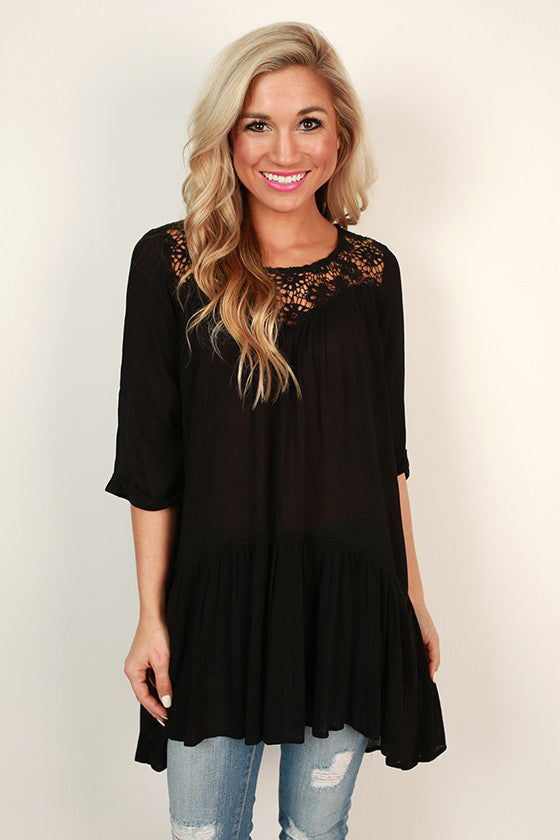 Vacay Obsessed Swing Tunic in Black