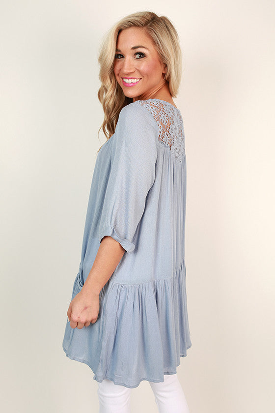 Vacay Obsessed Swing Tunic in Sky Blue