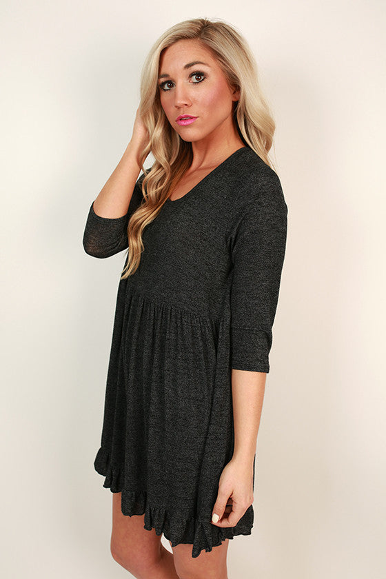 Bermuda Babydoll Shift Tunic in Black