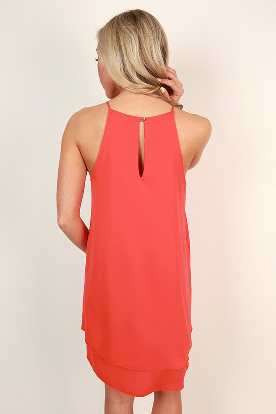 Brunch Date Shift Dress in Red