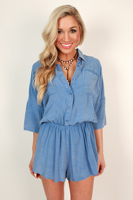 In Your Day Dream Chambray Romper