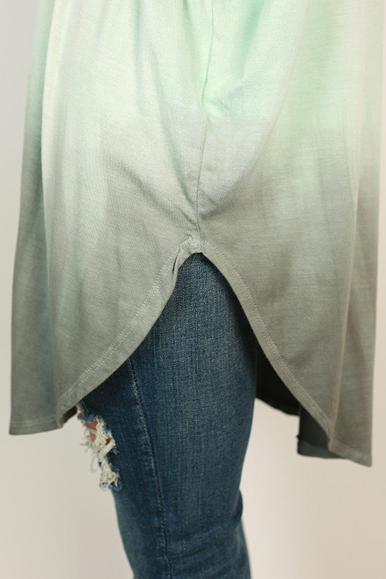 Ombre Watercolor Tee in Sage