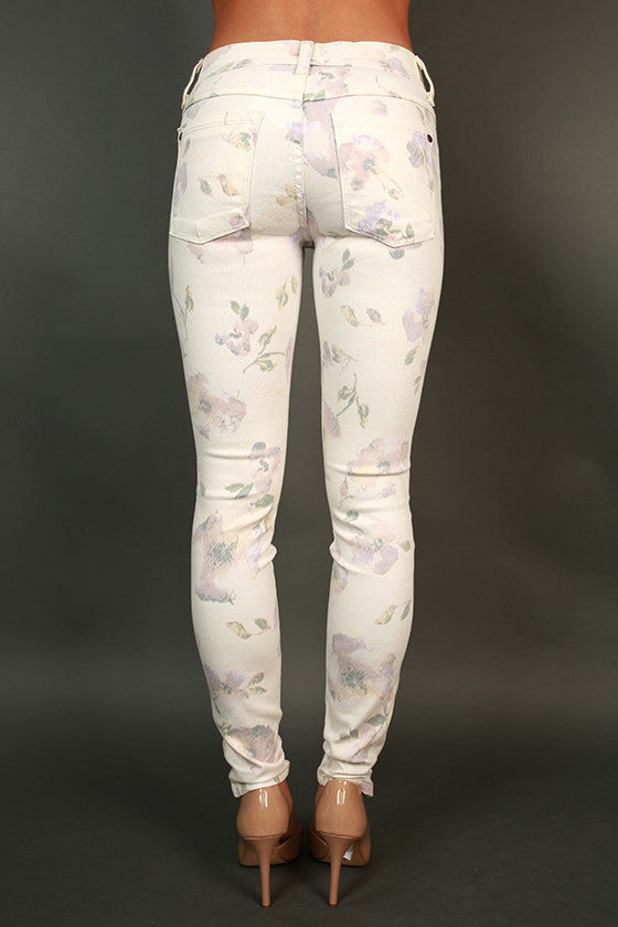 Cara Midrise Skinny in Floral Python