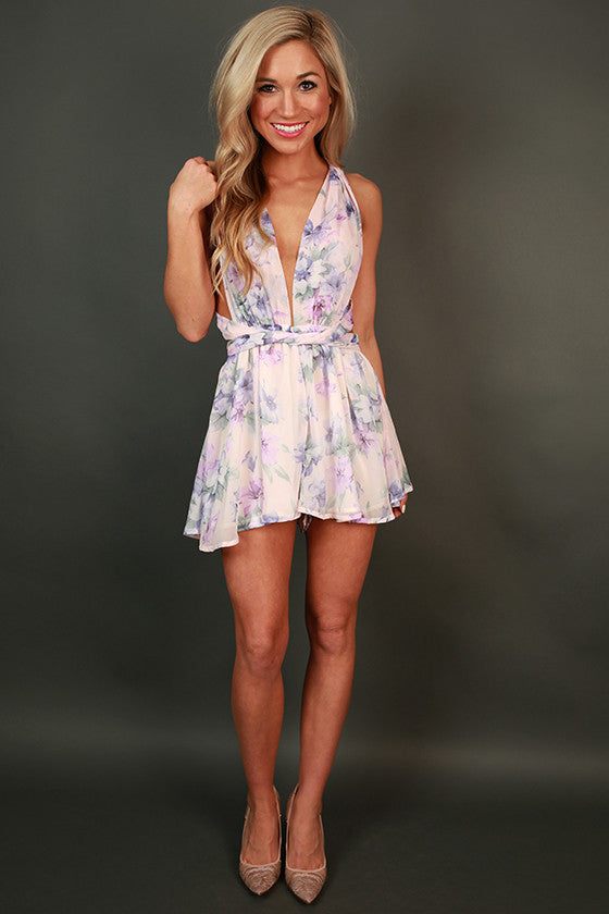 Watercolor Divine Floral Romper