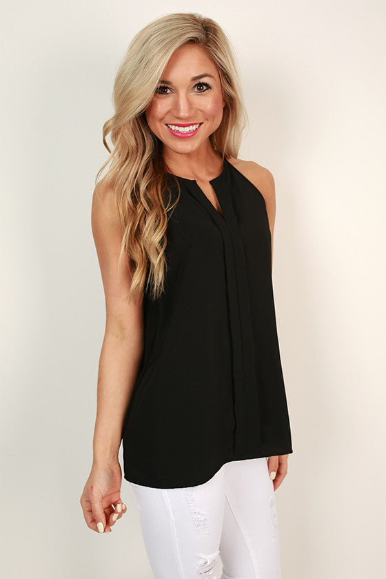 Party On the Patio Shift Tank in Black