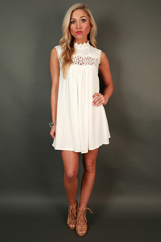 Heavenly Crochet Tunic Dress