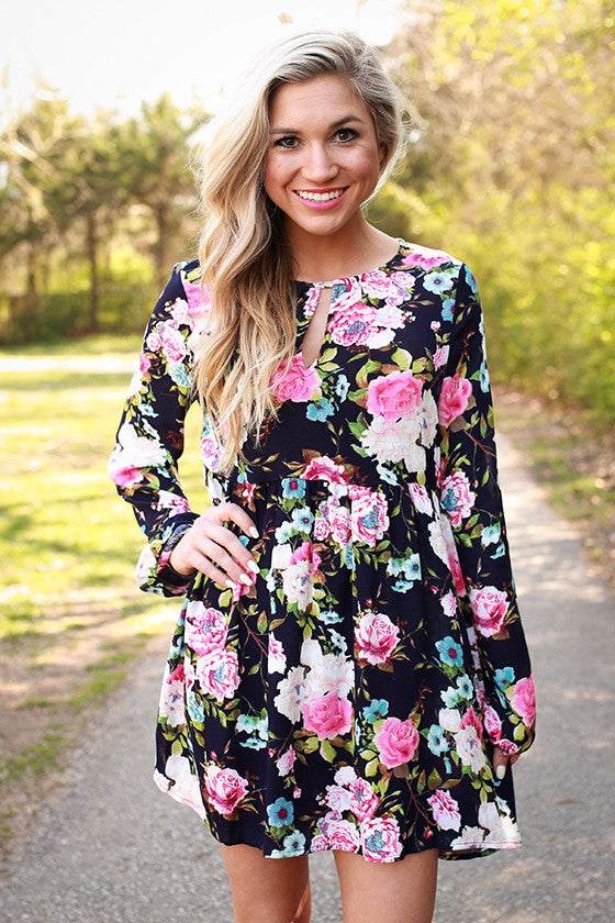 Floral Sass Shift Dress