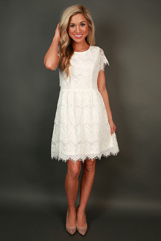 Princess Lace Mini Dress