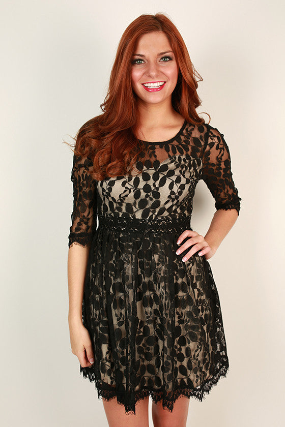 Crazy Beautiful Lace Dress in Black
