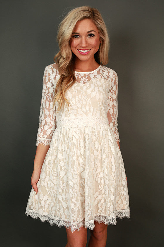 Crazy Beautiful Lace Dress in White